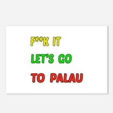 Let's go to Palau Postcards (Package of 8)