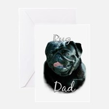 Pug Dad2 Greeting Card