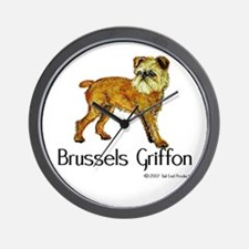 Brussels Griffon Wall Clock