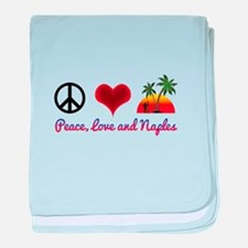 Peace, Love and Naples baby blanket