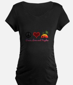 Peace, Love and Naples Maternity T-Shirt