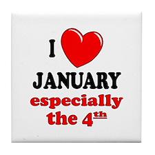 January 4th Tile Coaster