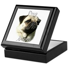 Pug Mom2 Keepsake Box