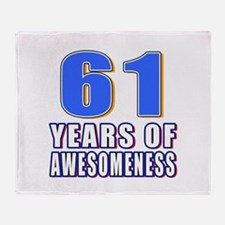 61 Years Of Awesomeness Throw Blanket
