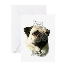 Pug Mom2 Greeting Card