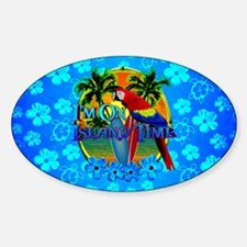 Island Time Surfing Blue Hibiscus Decal