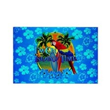 Island Time Surfing Blue Hibiscus Magnets