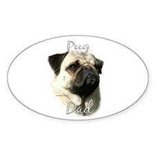 Pug Dad2 Oval Decal