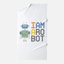 I Am A Robot Beach Towel