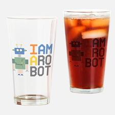 I Am A Robot Drinking Glass
