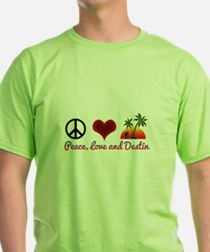 Peace, Love and Destin T-Shirt