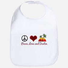 Peace, Love and Destin Bib