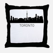 Toronto Ontario Cityscape Throw Pillow
