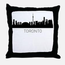 Toronto Ontario Cityscape Throw Pillow