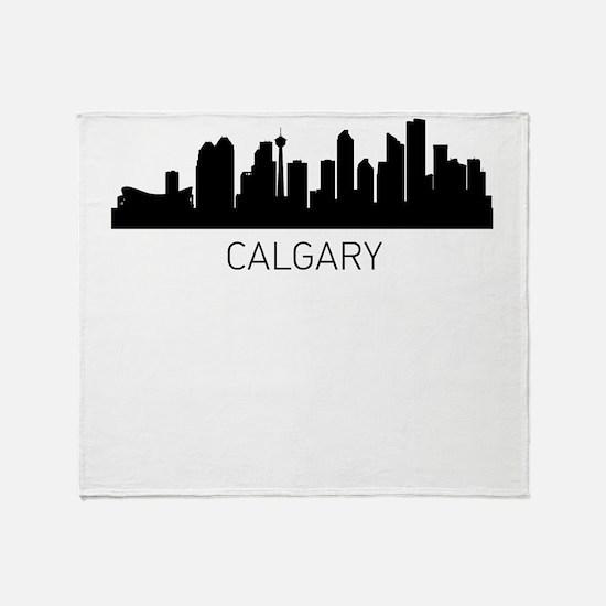 Calgary Alberta Cityscape Throw Blanket