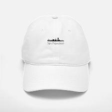 San Francisco California Cityscape Baseball Baseball Baseball Cap