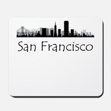 San Francisco California Cityscape Mousepad