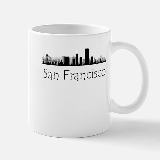 San Francisco California Cityscape Mugs