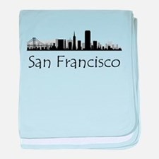 San Francisco California Cityscape baby blanket