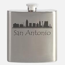 San Antonio Texas Cityscape Flask