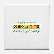 Happy Kwanzaa Tile Coaster