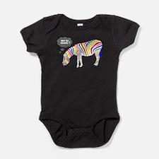Rainbow Zebra Baby Bodysuit