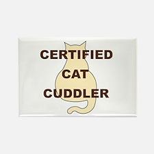 Cat Cuddler Rectangle Magnet