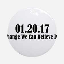01.20.17 - Change We Can Believe In! Round Ornamen