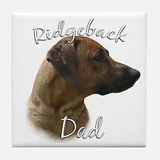 Ridgeback Dad2 Tile Coaster