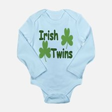 Funny Twin irish Long Sleeve Infant Bodysuit