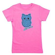 Cute Blue owl Girl's Tee