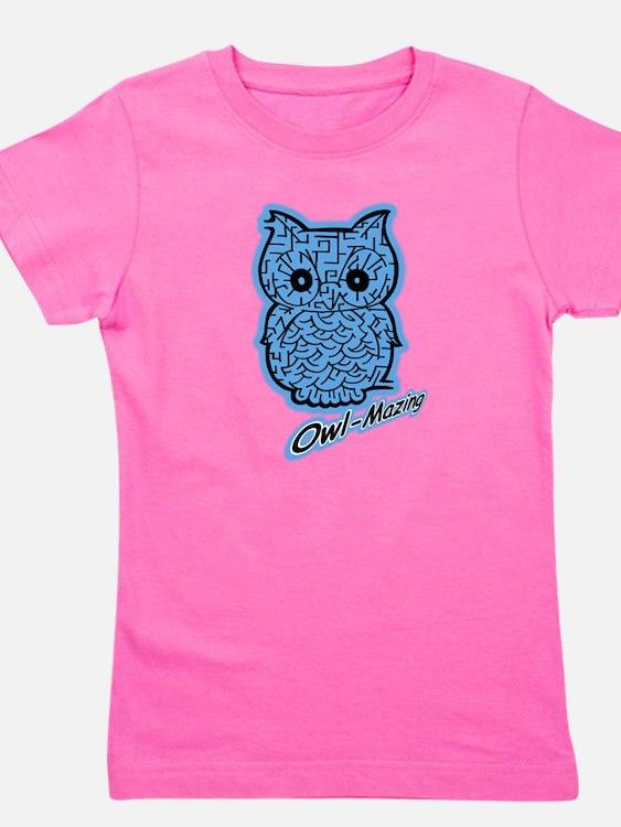 Cute Girls owl Girl's Tee