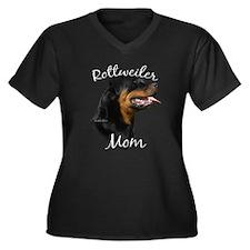 Rottweiler Mom2 Women's Plus Size V-Neck Dark T-Sh
