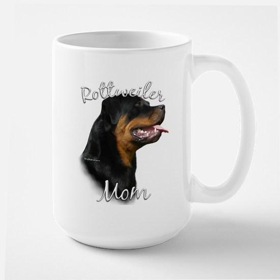 Rottweiler Mom2 Large Mug