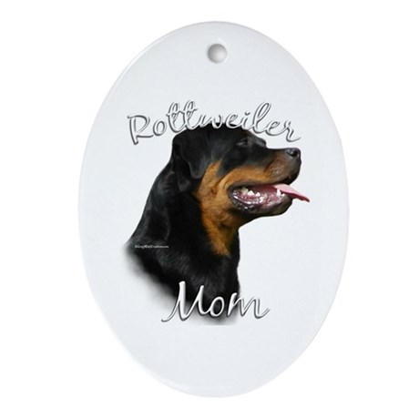 Rottweiler Mom2 Oval Ornament