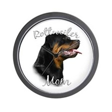 Rottweiler Mom2 Wall Clock