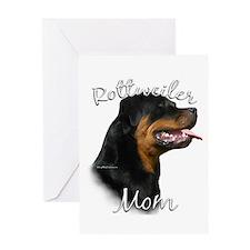 Rottweiler Mom2 Greeting Card