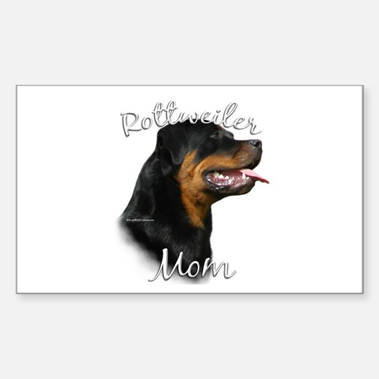 Rottweiler Mom2 Rectangle Decal
