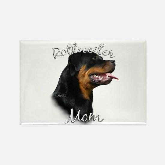 Rottweiler Mom2 Rectangle Magnet