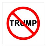 Anti donald trump Square Car Magnets