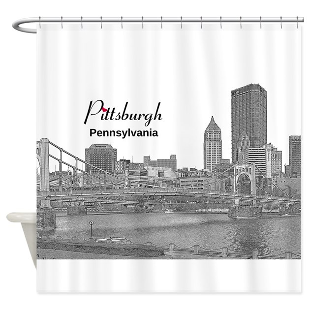 Pittsburgh Shower Curtain By Pitt Pa
