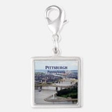 Pittsburgh Silver Square Charm