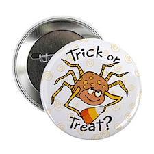 Candy Corn Spider Button