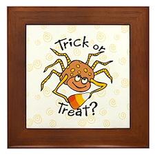 Candy Corn Spider Framed Tile