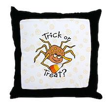 Candy Corn Spider Throw Pillow