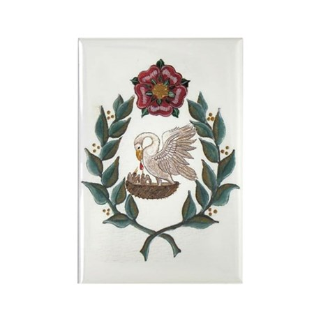 Rose Pelican Laurel Magnets