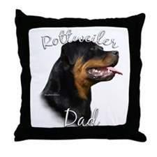 Rottweiler Dad2 Throw Pillow