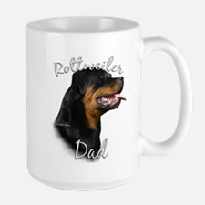 Rottweiler Dad2 Large Mug