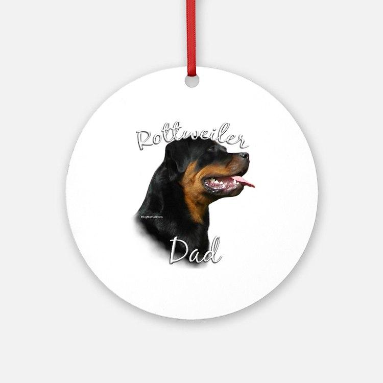 Rottweiler Dad2 Ornament (Round)