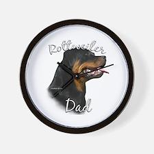 Rottweiler Dad2 Wall Clock